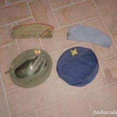 Militaria: LOTE 4 GORRA O BOINA MILITAR ANTIGUA, ORIGINALES. VARIEDAD, ESPAÑOLA Y EXTRANJERA.. Lote 206362547
