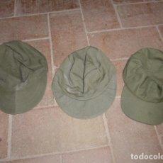 Militaria: LOTE 3 GORRA MILITAR A IDENTIFICAR. Lote 124018071