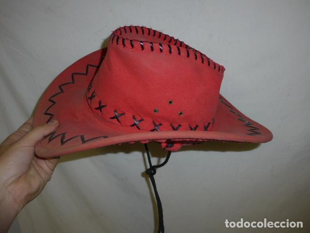 Militaria: Lote 2 antiguo sombrero o gorro de sudamerica, tipo vaquero oeste. Originales. - Foto 8 - 125149071