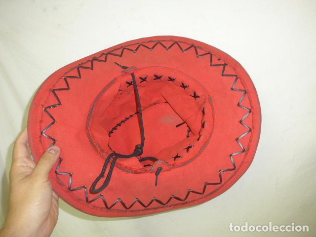 Militaria: Lote 2 antiguo sombrero o gorro de sudamerica, tipo vaquero oeste. Originales. - Foto 10 - 125149071