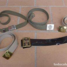 Militaria: * LOTE 5 CINTURON MILITAR ESPAÑOL, CINTURONES ORIGINALES Y DISTINTOS. ZX. Lote 125752091
