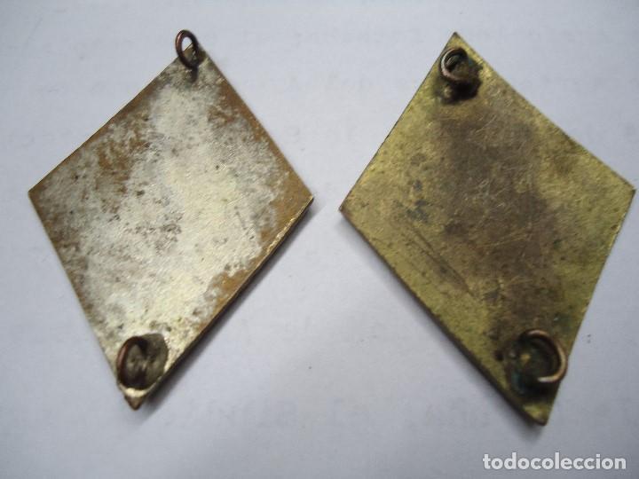 Militaria: 2 ROMBOS UNIFORME MILITAR DE EJERCITO DE ESPAÑA metal esmaltado - Foto 4 - 126671691