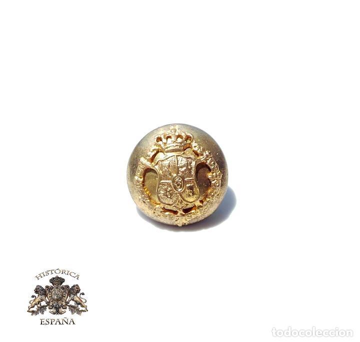 BOTÓN PEQUEÑO CASA REAL, ALFONSO XII - XIII.- 1,5 CM DIÁMETRO (Militar - Botones )