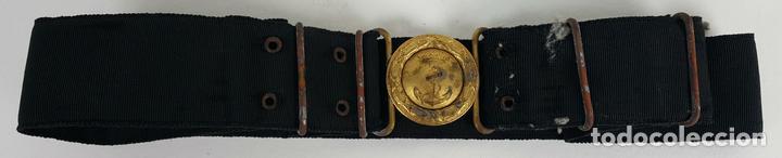 CINTURÓN DE OFICIAL DE LA MARINA. ÉPOCA DE ALFONSO XIII. 2ª REPÚBLICA. SIGLO XX. (Militar - Cinturones y Hebillas )