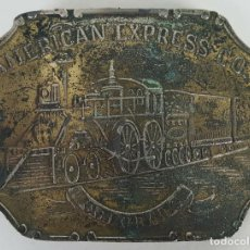 Militaria: HEBILLA. AMERICAN EXPRESS AND CO. COLORADO. METAL PLATEADO. SIGLO XX. . Lote 128214435