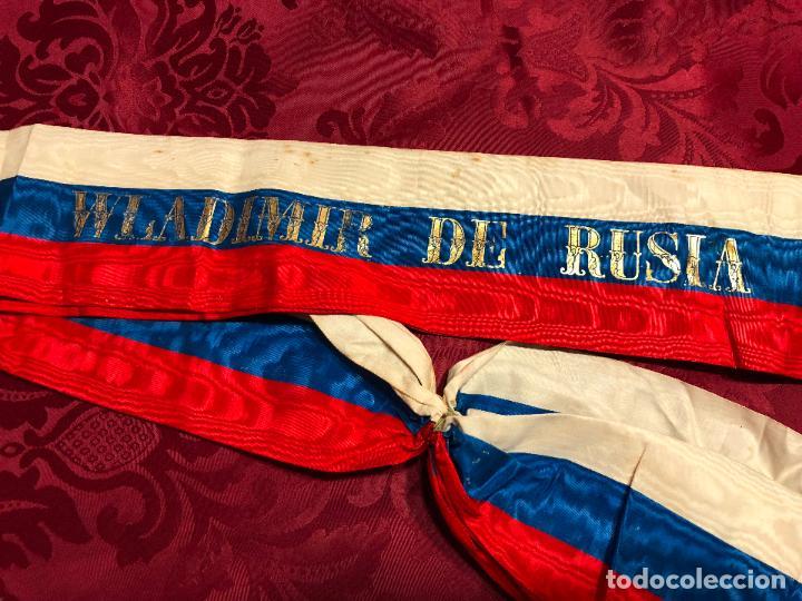 Militaria: BANDA MILITAR WLADIMIR DE RUSIA DE PARTE DEL GRAN DUQUE (REFUGIADO EN ESPAÑA) - AÑO 58 - Foto 3 - 128380215