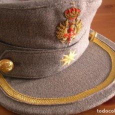 Militaria: GORRA MONTAÑERA DE OFICIAL JEFE DE LA ACADEMIA GENERAL MILITAR DE ZARAGOZA. ORIGINAL 100%. BORDADA.. Lote 128410871