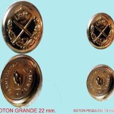 Militaria: CINCO BOTONES DE GENERAL SABLE S/ BASTON, REAL,NUEVOS,1 GRANDE Y 4 PEQUEÑOS. REV. FABRICA NACIONAL. . Lote 128808455