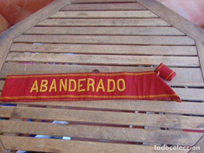 BANDA DE ABANDERADO DE BANDA MUSICAL O DE DESFILE MILITAR BORDADA (Militar - Otros relacionados con uniformes )