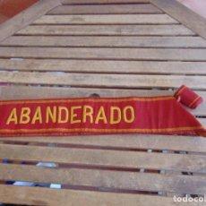 Militaria: BANDA DE ABANDERADO DE BANDA MUSICAL O DE DESFILE MILITAR BORDADA . Lote 129058355