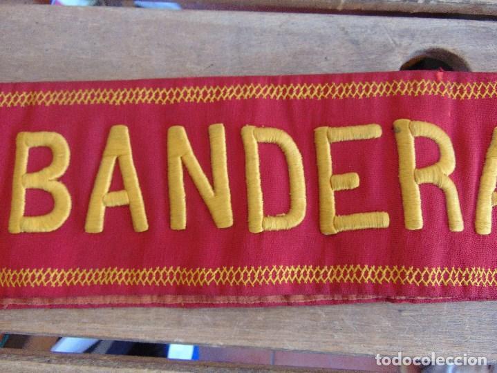 Militaria: BANDA DE ABANDERADO DE BANDA MUSICAL O DE DESFILE MILITAR BORDADA - Foto 3 - 129058355