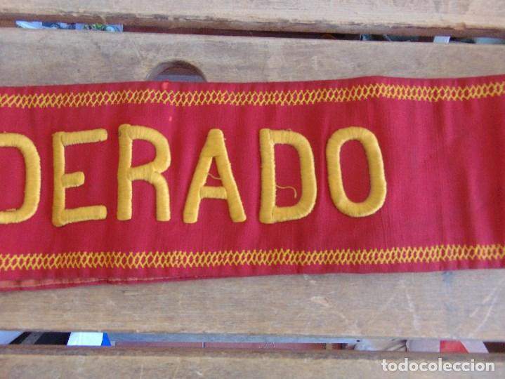 Militaria: BANDA DE ABANDERADO DE BANDA MUSICAL O DE DESFILE MILITAR BORDADA - Foto 4 - 129058355