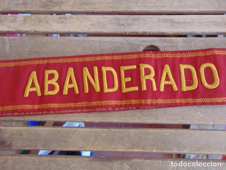 Militaria: BANDA DE ABANDERADO DE BANDA MUSICAL O DE DESFILE MILITAR BORDADA - Foto 6 - 129058355