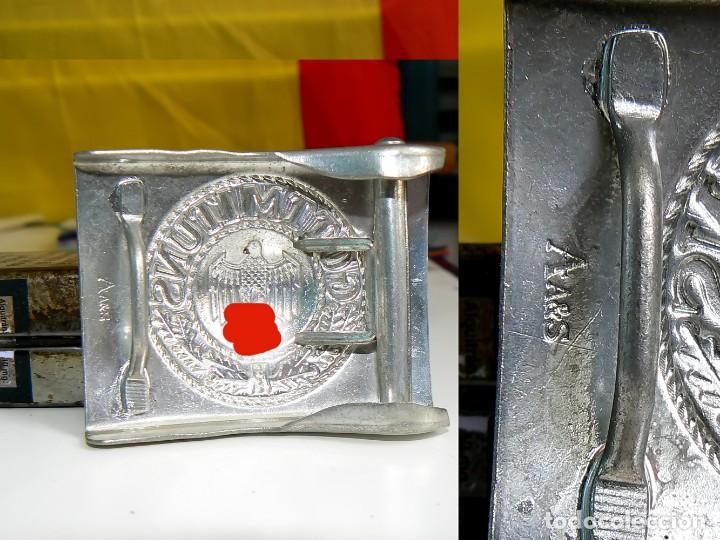 Militaria: Hebilla de cinturón de plata aleman Repro 1939-1945 - Foto 2 - 130826516