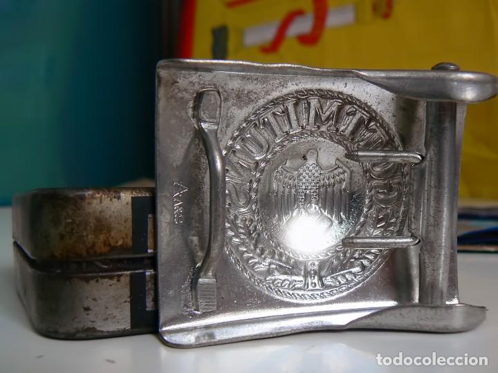 Militaria: Hebilla de cinturón de plata aleman Repro 1939-1945 - Foto 3 - 130826516