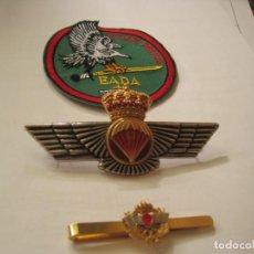 Militaria: ROKISKI PARACAIDISTA+PASACORBATAS INSIGNIA EADA. EJERCITO DEL AIRE. Lote 130837112