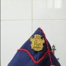 Militaria: GORRILLO DE BOMBERO MUY ANTIGUO. Lote 130977388