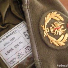 Militaria: ANTIGUA BOINA ELOSEGUI OFICIAL DEL EJERCITO DE TIERRA. AÑO 1989. TALLA 58. 100% ALGODON.. Lote 130994704