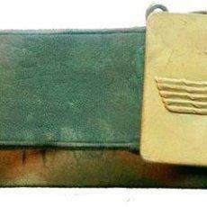 Militaria: CINTURON CUERO EJERCITO DEL AIRE CON HEBILLA METÁLICA,AÑOS 50. Lote 131101216