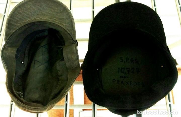 Militaria: 2 Gorras faena. M-67, gorrilla 'coreana': una de lona y otra de paño (montaña) - Foto 2 - 131159308