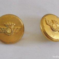 Militaria: 2 BOTONES AVIACION (2,2CM DIAMETRO). Lote 131296608