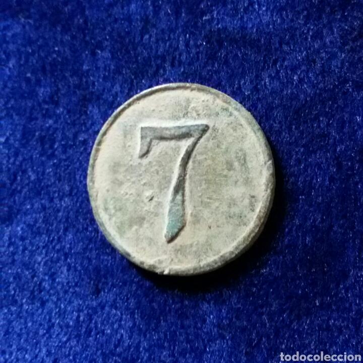 BOTON MILITAR NUMERO 7 (Militar - Botones )