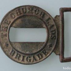Militaria: ANTIGUA HEBILLA CINTURON BRIGADA DE LOS MUCHACHOS DE LA IGLESIA - PRIMERA GUERRA MUNDIAL. Lote 131718818
