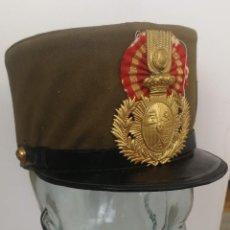 Militaria: ROS DE HULE O CHAROL - CON SU FUNDA ORIGINAL - DE TROPA DE DIARIO - CUERPO DE INTENDENCIA - ALFONSO . Lote 131934530
