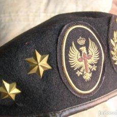 Militaria: ANTIGUA BOINA DE TENIENTE DE CARROS. DIV. ACORAZADA. ORIGINAL 100%. AÑOS 80. ÚNICA.. Lote 132031050