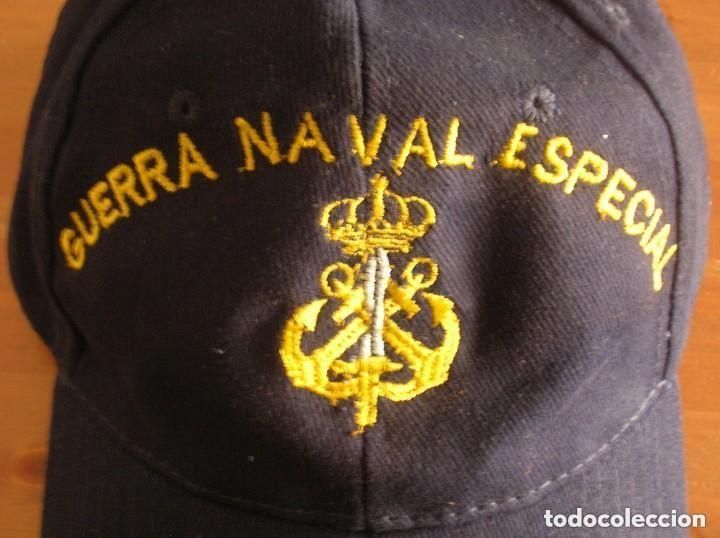 Militaria: RARA GORRA DE GUERRA NAVAL ESPECIAL. ARMADA ESPAÑOLA. - Foto 2 - 132031258