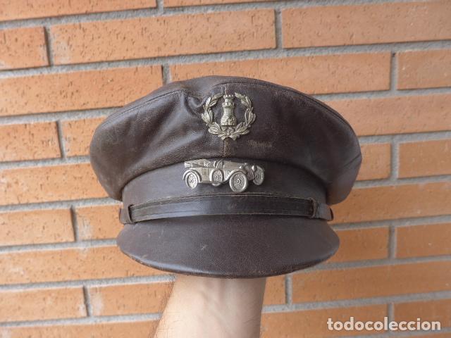 antigua gorra de cuero de conductor de ingeni - Comprar Boinas y ... 82db17a04f9d