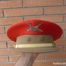 Militaria: * GORRA DE PLATO DE TENIENTE DE REGULARES, TODO BORDADO. ORIGINAL. ZX. Lote 132093670