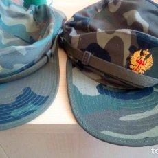 Militaria: LOTE DOS GORRAS EJERCITO. Lote 132169602