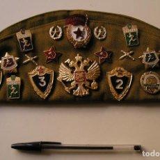 Militaria: EJERCITO RUSO GORRA CON PIN INSIGNIA MEDALLA PARCHES , APORTO MUCHAS FOTOS PARA VER ARTICULO. Lote 132197026