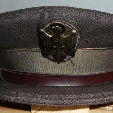 Militaria: GORRA DE PLATO DE LA POLICIA NACIONAL DE POLICIA - UNIFORME DE 1978 DE DIARIO O MARRON. ZAPATER.. Lote 132254534