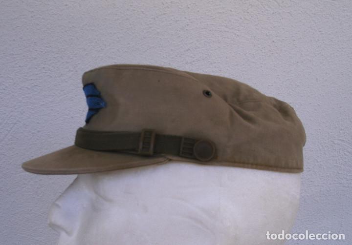 Militaria: GORRA COREANA M67. GORRILLA DE FAENA, ATN, COLOR CAQUI CON GALON DE CABO AZUL: TIRADORES DE IFNI - Foto 4 - 132315122