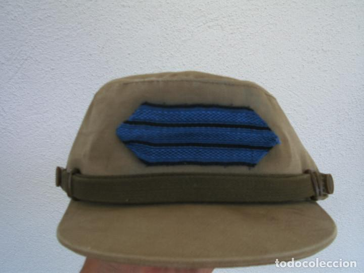Militaria: GORRA COREANA M67. GORRILLA DE FAENA, ATN, COLOR CAQUI CON GALON DE CABO AZUL: TIRADORES DE IFNI - Foto 5 - 132315122