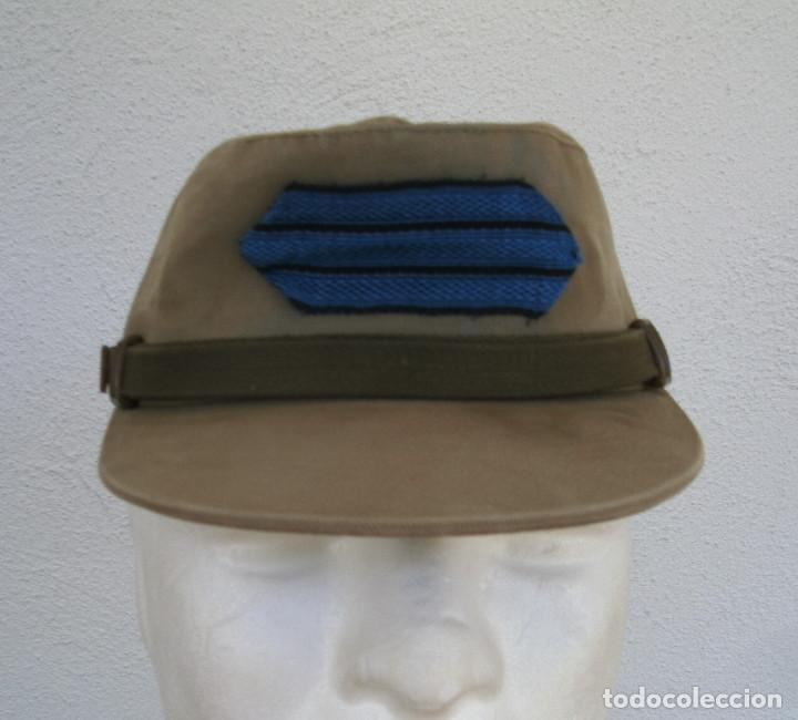 Militaria: GORRA COREANA M67. GORRILLA DE FAENA, ATN, COLOR CAQUI CON GALON DE CABO AZUL: TIRADORES DE IFNI - Foto 6 - 132315122