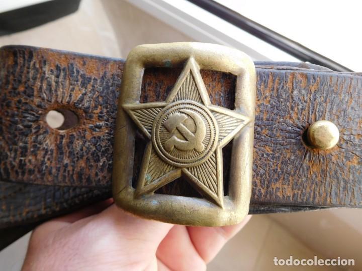 CINTURÓN DE OFICIAL SOVIETICO ORIGINAL DE LA 2ª G.M. (Militar - Cinturones y Hebillas )