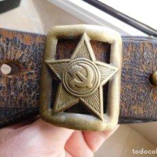 Militaria: CINTURÓN DE OFICIAL SOVIETICO ORIGINAL DE LA 2ª G.M.. Lote 132483226