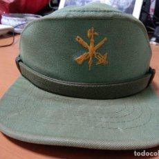 Militaria: ANTIGUA GORRA SARGA DE LA LEGION, MUY SUCIA TALLA CHICA, MANUFACTURAS VALLE. Lote 132519286