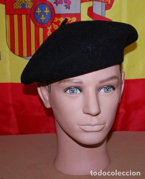 BOINA NEGRA ELOSEGUI TALLA 55/56 (Militar - Boinas y Gorras )