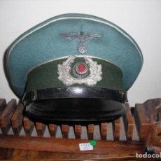 Militaria: GORRA ALEMANA SEGUNDA GUERRA MUNDIAL TERCER REICH HITLER - REFORMADA. Lote 132934442