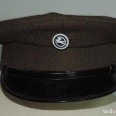 Militaria: GORRA DE PLATO DE VIGILANTE JURADO DE LA EMPRESA PEGASO, CAMION, AUTOBUS, FABRICADA POR UNIFORMES JA. Lote 132981258