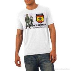 Militaria: CAMISETA DIVISIÓN AZUL. HONOR Y GLORIA. TALLA SMALL (PEQUEÑA). Lote 133997014
