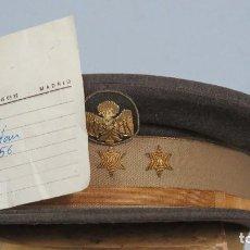 Militaria: GORRA CAPITAN DE POLICIA. EPOCA MARRON. MUY BUEN ESTADO. TALLA 56. Lote 134394654