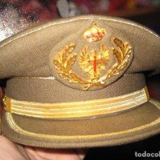 Militaria: GORRA PLATO UNIFORME MODALIDAD A Y B. EJÉRCITO T. ESCARAPELA CON LAURELES OFICIAL Y CINTA DORADA. Lote 134902094
