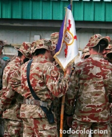 Militaria: CHAMBERGO CAMUFLAJE ÁRIDO INFANTERÍA DE MARINA. TALLA MEDIANA. ORIGINAL - Foto 5 - 204607436
