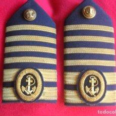 Militaria: ANTIGUAS HOMBRERAS O PALAS DE OFICIAL DE LA MARINA MERCANTE.. Lote 134915858