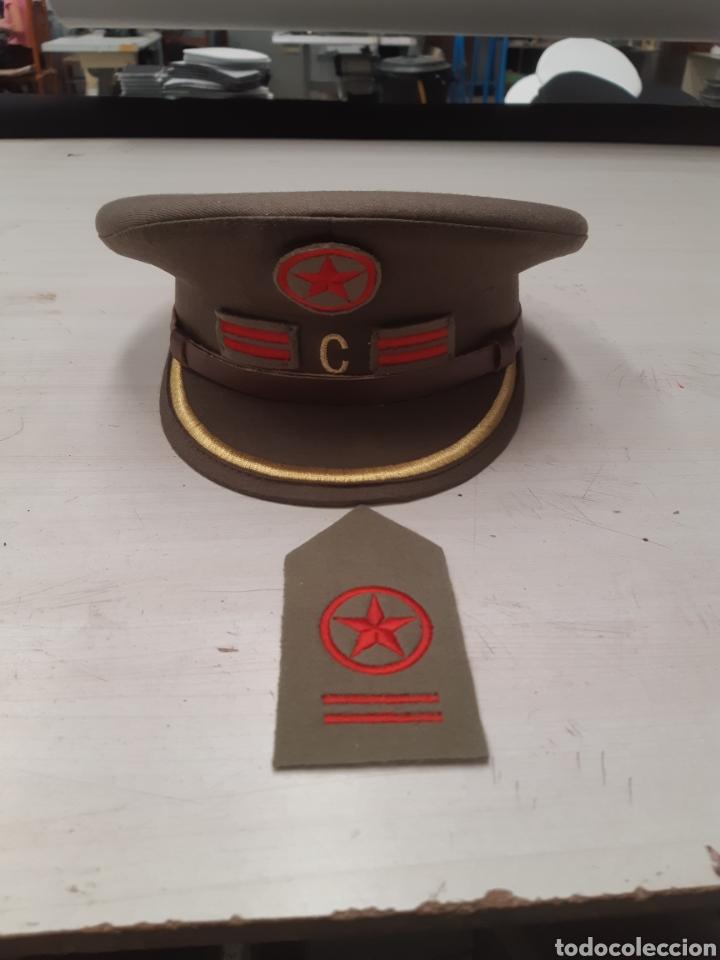 Militaria: Gorra replica comisario politico de batallon con pepito bordado (leer descripcion) - Foto 3 - 141642266
